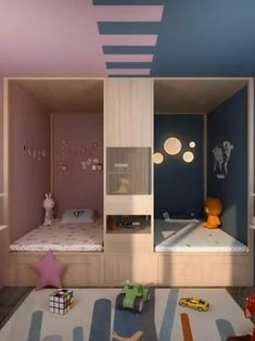 Small Room Design Bedroom, Small House Interior Design, House Furniture Design, Bedroom Closet Design, Girl Bedroom Designs, Home Room Design, Room Ideas Bedroom, Kids Room Design, Diy Bedroom Decor