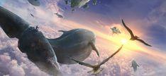 Flying whales by TiagoSilverio.deviantart.com on @DeviantArt