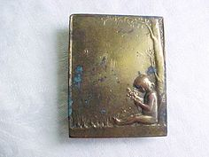 Vintage Brass Belt Buckle - Art Nouveau - Arts and Crafts Style - Little Child…