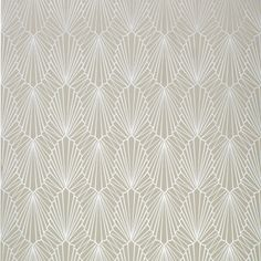 Cabaret wallpaper in pearl by Catherine Martin for Mokum