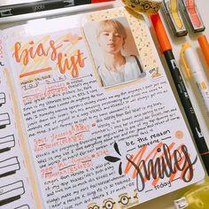 Bullet Journal 2019, Bullet Journal Writing, Bullet Journal Ideas Pages, Bullet Journal Inspiration, Music Journal, Book Journal, Kpop Diy, Bts Book, Drawing Journal