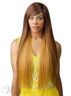 #WigsBuy - #WigsBuy Top Quality Long Smooth Straight Capless Synthetic Hair Wig 30 Inches - AdoreWe.com