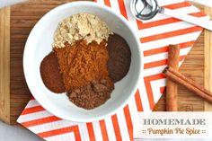 Skip the store-bought stuff and make this easy 5-Ingredient Homemade Pumpkin Pie Spice yourself! | TheCornerKitchenBlog.com #pumpkin #fallbaking