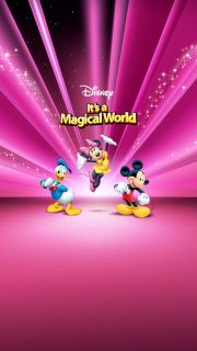Disney Characters Pink Wallpaper screenshot #1