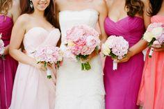 bridemaid-dresses-pink-fuscia-long-dresses-peony-bouquet