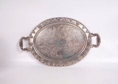 Antique Theodore B Starr Silver Serving Tray by LeVintageGalleria, $135.00