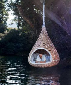 Hammock over the lake!! best idea
