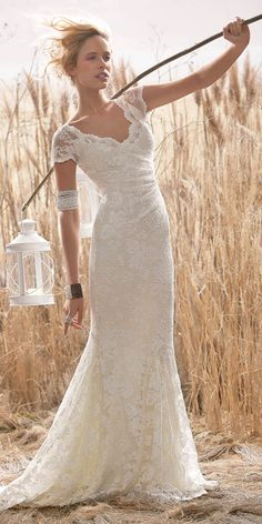 Summer wedding colors that inspire wedding summer and york for Country style lace wedding dress