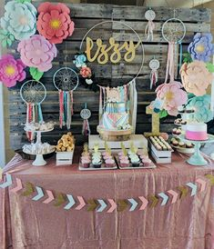 Coachella Party Decorations, First Birthday Party Decorations, Girls Birthday Party Themes, Wild One Birthday Party, First Birthday Parties, First Birthdays, Coachella Party Theme, Birthday Ideas, Bohemian Birthday Party