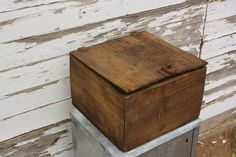 Love this old wooden box