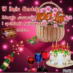 100 lat i dużo zdrówka. Diy And Crafts, Christmas Bulbs, Birthdays, Birthday Cake, Holiday Decor, Humor, Birthday, Christmas, Anniversaries