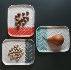 love these colors together, porcelain trays by dahlhaus