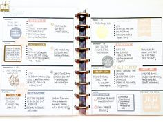 Happy Monday and happy new week, planner babes! To kick it off, we're sharing two completed weeks of August in the Rose Gold Horizontal Happy Planner™ by mambi Design Team member April Orr . Planner Layout, Planner Pages, Planner Stickers, Week Planner, Create 365 Planner, Perfect Planner, Mini Happy Planner, Planner Decorating, Planner Organization