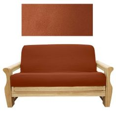 Suede Rust Futon Cover Loveseat Ottoman 616 by SlipcoverShop. $59.00. In Stock - Ships within 2 days. See Sizing and Product Description below. Made for futon mattress measuring 21 inches long and 54 inches wide. This futon  cover is used for ottoman portion or extension piece of loveseat cushion. This futon cover features 3 sided, concealed zipper construction and fit futon cushions up 8 inches thick. Suede Rust is durable, luxurious and soft to the touch. Of...