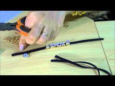 AnaGGabriela - Vídeo-Aula 82 - Pulseira em couro com entremeio AMOR - YouTube