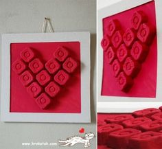 Egg carton heart craft to celebrate Valentine's Day from PBS Parents. Valentines Bricolage, Valentine Crafts For Kids, Valentines Day Activities, Valentine Decorations, Valentines Diy, Craft Activities, Holiday Crafts, Children Activities, Valentine Heart