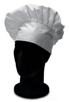 Cappello da cuoco con elastico alla nuca. Tessuto 100% cotone di colore BIANCO.