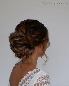 Long Hair Wedding Styles, Elegant Wedding Hair, Wedding Hair And Makeup, Hair Makeup, Long Hair Styles, Hair Styles For Prom, Low Bun Wedding Hair, Bohemian Updo Wedding, Wedding Updo With Braid