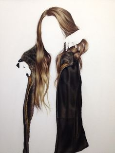 TBA Commission for Couture Leather Line 14 x 14 inches Colored Pencil on Mylar 2014 Copywrite Brittany SChall