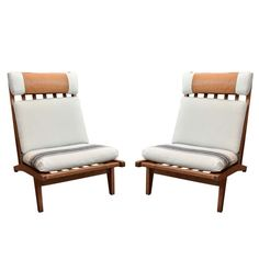 Mid-century Hans Wegner Deck Chair   From a unique collection of antique and modern club chairs at https://www.1stdibs.com/furniture/seating/club-chairs/