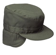 858ca1d737a Rothco 5712 Olive Drab With Ear Flaps Military Patrol Fatigue Cap Hat  Sizes