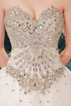 I wish I could see the whole dress but juts this part makes my jaw drop Wedding Dresses Plus Size, Best Wedding Dresses, Wedding Gowns, Diamond Wedding Dress, Wedding Dress Train, Evening Dresses, Prom Dresses, Festa Party, Beautiful Gowns