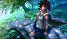 Princess Mononoke wallpaper, anime, fantasy art, anime girls, Studio Ghibli