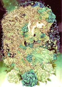 Green lady by Tukiji Nao