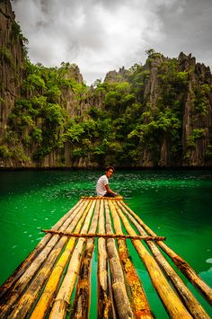 The emerald waters of Coron Lake, The Phillipines
