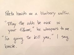 The Hunger Games   26 Hilariously Terrible Rough Drafts Of Your Favorite Novels