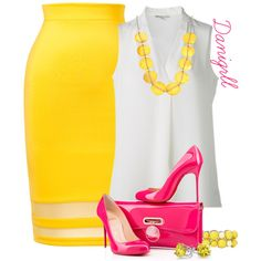 Lemonade by danigrll on Polyvore featuring moda, Thalia Sodi, Christian Louboutin, Kenneth Cole, Mixit and Bling Jewelry
