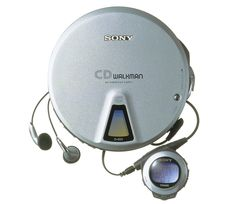 """••WALKMAN 3••1984 – the original portable music device by Sony 1979-07-01 ($150) to 2010-10-25; invented by Andreas Pavel engineer Nobutoshi Kihara for Sony co-chair Akio Morita; 220M units sold in 31 years vs iPod 2001-11-10 320M+ in 11 years! • wiki: http://en.wikipedia.org/wiki/Walkman • article by The Verge """"The history of the Walkman"""" 2014-07-01 • depicted: Walkman 3 """"Discman"""" 1984 but here 1999 vers. """"CD Walkman D-E01"""""""