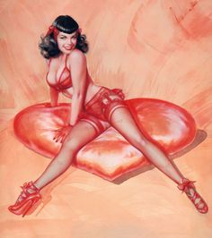 Bettie Page by Olivia De Berardinis