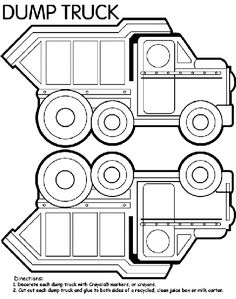 Dump Truck Box coloring page