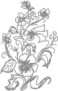 Flower Outline Drawings