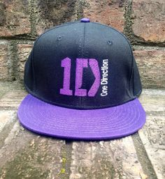 1D One Direction Snapback Customized with Embroidery on Etsy, $25.00 I want this so bad!!!!!
