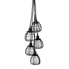 Products details - Verlichting - 5 lab lampen met pendel
