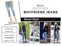 Boyfriend jeans are Christen's go-to pick for casual summer days