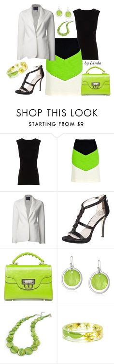 """Spring Career Woman"" by lindakol ❤ liked on Polyvore featuring Alice + Olivia, Carven, Lanvin, Vince Camuto and Kenneth Cole"
