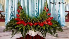 Tropical Flower Arrangements, Creative Flower Arrangements, Flower Arrangement Designs, Funeral Flower Arrangements, Christmas Floral Arrangements, Beautiful Flower Arrangements, Beautiful Flowers, Church Wedding Flowers, Flower Bouquet Wedding
