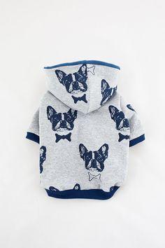 Handgemachte Hund Hoodie (Kleidung für kleine Hunde) Hundepullover, Hundebekleidung, Haustiere erlaubt, Kleidung, französische Bulldogge