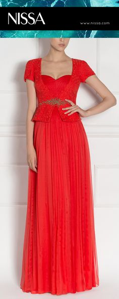 ‪#‎nissa‬ ‪#‎evening‬ ‪#‎dress‬ ‪#‎red‬ ‪#‎embroidery‬ ‪#‎crystals‬ ‪#‎fashion‬ ‪#‎look‬ ‪#‎style‬ ‪#‎glamorous‬ Evening Dresses, Formal Dresses, Dress Red, Look Fashion, One Shoulder, Embroidery, Crystals, Collection, Style