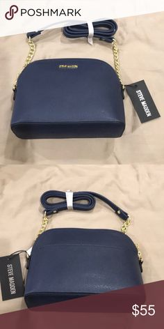 9b816a5b48f Steve Madden Dome Crossbody Bag New with tags, 9 by 7 by inches,  Multicolored- black front, grey back, silver chain Steve Madden Bags  Crossbody Bags