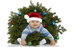 Great idea for baby Christmas picture