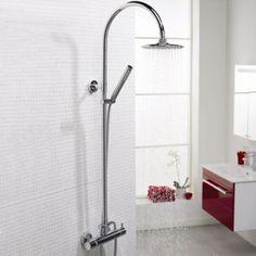 Thermostatic Bar Shower with Rigid Riser - £301.50 The Big Bathroom Shop