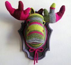 Crocheted Faux Taxidermy by Manafka Mina 3