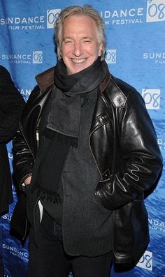 """Alan Rickman arrives at the premiere of """"Bottle Shock"""" held at the Library Center Theatre during the 2008 Sundance Film Festival on January 18, 2008 in Park City, Utah."""