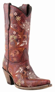 Enjoy of women's cowboy boots from Lane Boots, Tony Lama, Corral and more. The best women's western boots you'll find, guaranteed! Red Cowgirl Boots, Cowboy Boots Women, Western Boots, Country Boots, Western Cowboy, Cowboy Hats, Calf Leather, Leather Boots, Floral Boots