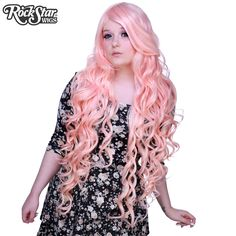 """Cosplay Wigs USA™ <br> Curly 90cm/36"""" - Light Pink -00328"""
