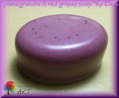 ΣΑΠΟΥΝΙ ΡΟΔΙ-ΣΤΑΦΥΛΙ ''Pomegranate & Red Grapes soap'' by Eleni